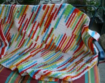Multi-Colored Crib Blanket