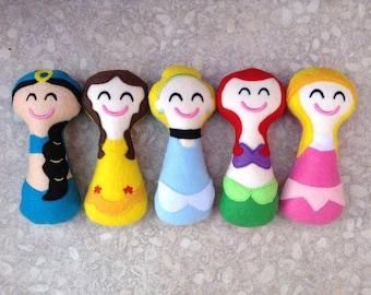 Super soft safe baby girl rattles - Princesses - Star Wars - Superheros - TV Characters
