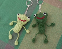 Keychain Frog, Amigurumi Frog,Stuffed Frog, Crochet Frog