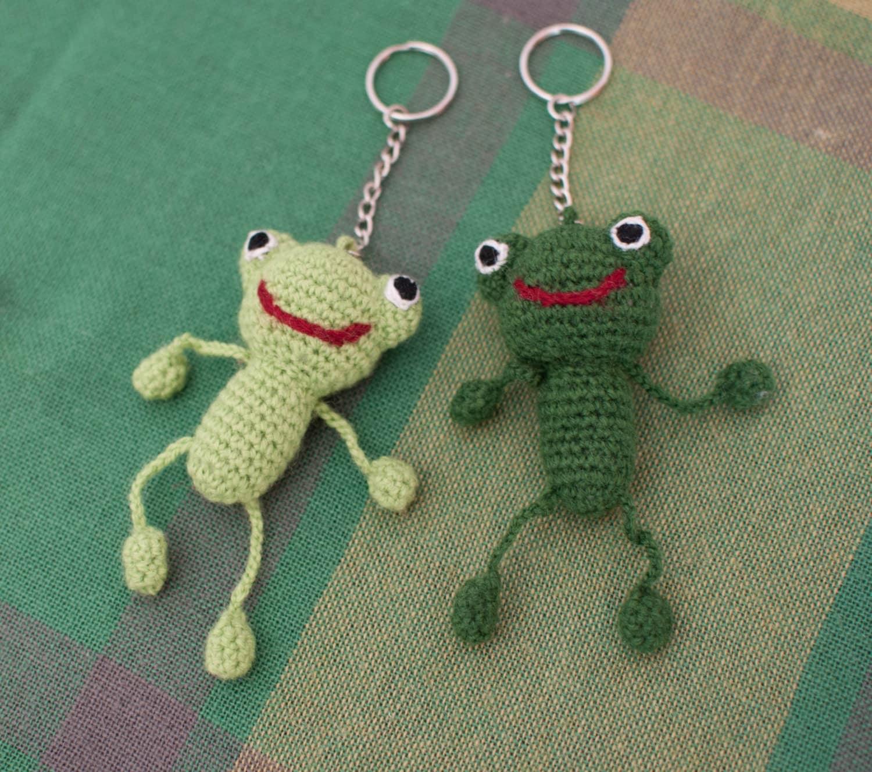 Amigurumi Free Patterns Keychain : Keychain Frog Amigurumi FrogStuffed Frog Crochet Frog