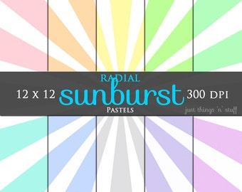 Digital Pastel Paper - Digital Pastel Pattern - Digital Paper Pack - Pastel Carnival Digital Paper - Baby Pattern Paper - Digital Background