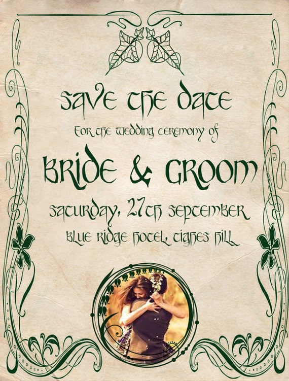 Digital/Printable LOTR wedding invitation/save the date
