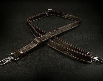 Leather Shoulder Bag Strap (Dark Brown)  / K18A08