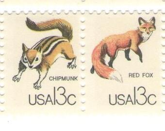12 Unused 1978 North American Animals - Vintage Postage Stamps Number 1757e - 1757h