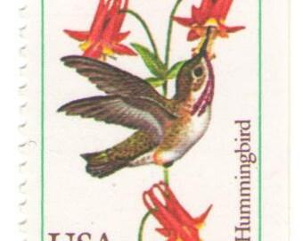 10 Unused 1992 Hummingbirds - Vintage Postage Stamps Number 2642 - 2646