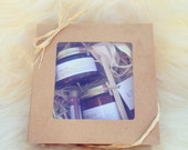 Gift Set. Natural Handcrafted. The Wonder Butter, The Wonder Scrub & The Healing Balm. Shea Cocoa