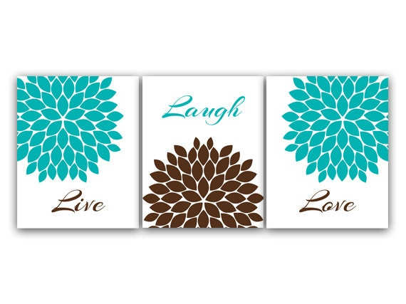 home decor canvas or prints live laugh love turquoise wall