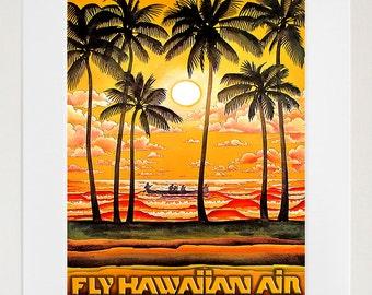 Hawaii Travel Poster Art Tourism Print (TR35)