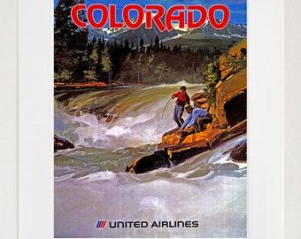 Colorado Travel Poster Airline Tourism Print (TR27)