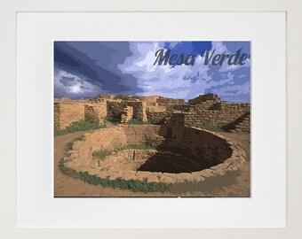 Mesa Verde National Park Poster Travel Art Print Home Decor (ZB5)