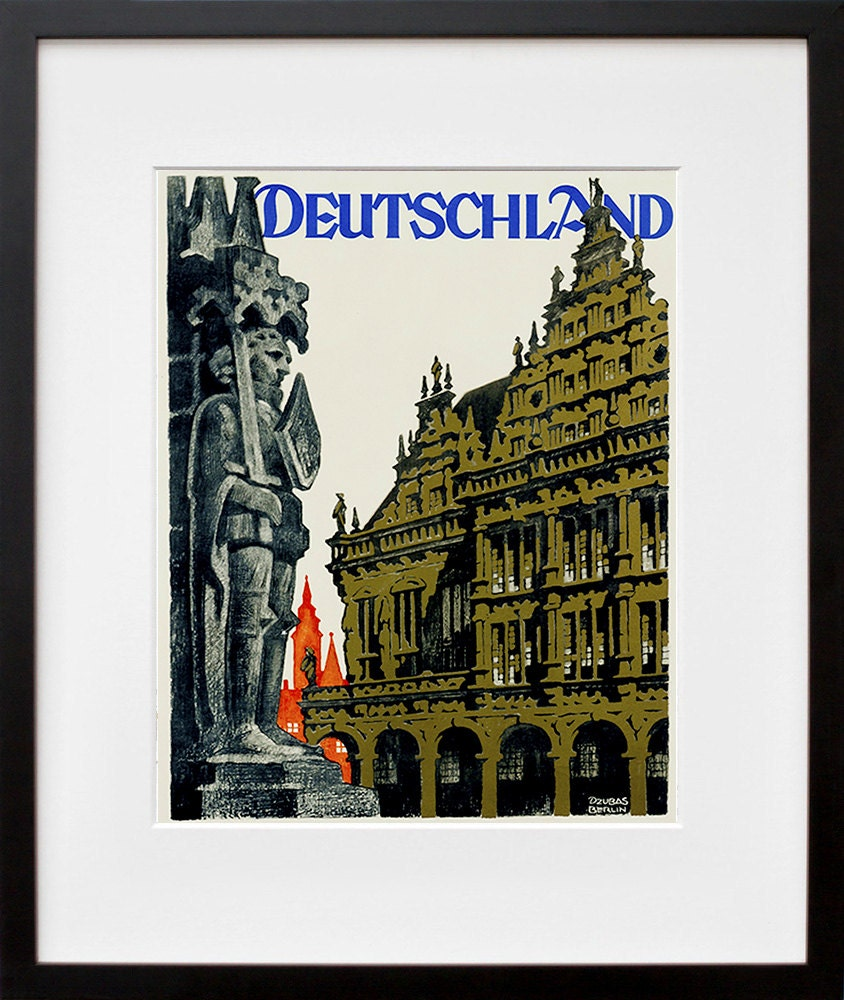 Germany Travel Poster German Wall Art Print Home Decor Zt633