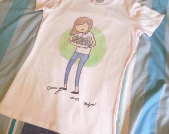 Girl with lots of spoons t-shirt top - spoonie spoonies