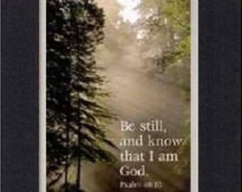 Plaque for Inspirations  – Be Still and Know that I am God 8 x 10 Double-Beveled Matting