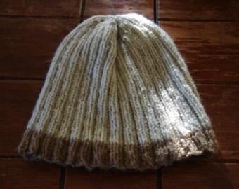 Knitted Homespun Woollen Beanie-  Handmade- Made In Australia