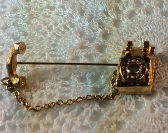 Rotary Telephone Stick Pin