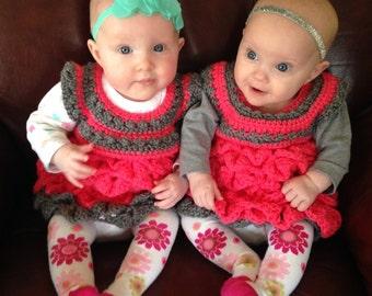 Dee-Lightfully cute crochet dress...soft and comfy, one of a kind creation.