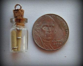 Message in a Bottle, Bottle Charm, Bottle Necklace
