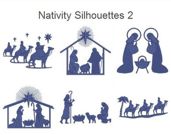 Nativity Silhouette Patterns | New Calendar Template Site