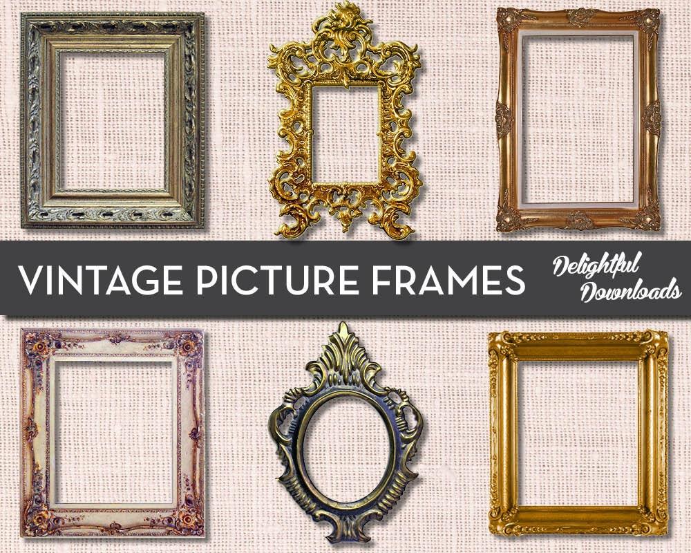 Antique Vintage Picture Frame Clip Art for Digital Collage