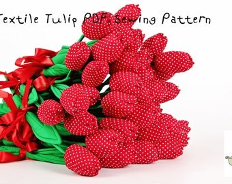 Textile Tulip PDF Tutorial and ePattern with Instructions, Easy Sewing Tutorial, Textile Pattern, Digital File for Instant Download