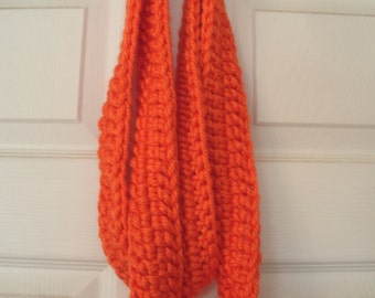 Infinity Scarf, Crocheted Chunky Orange