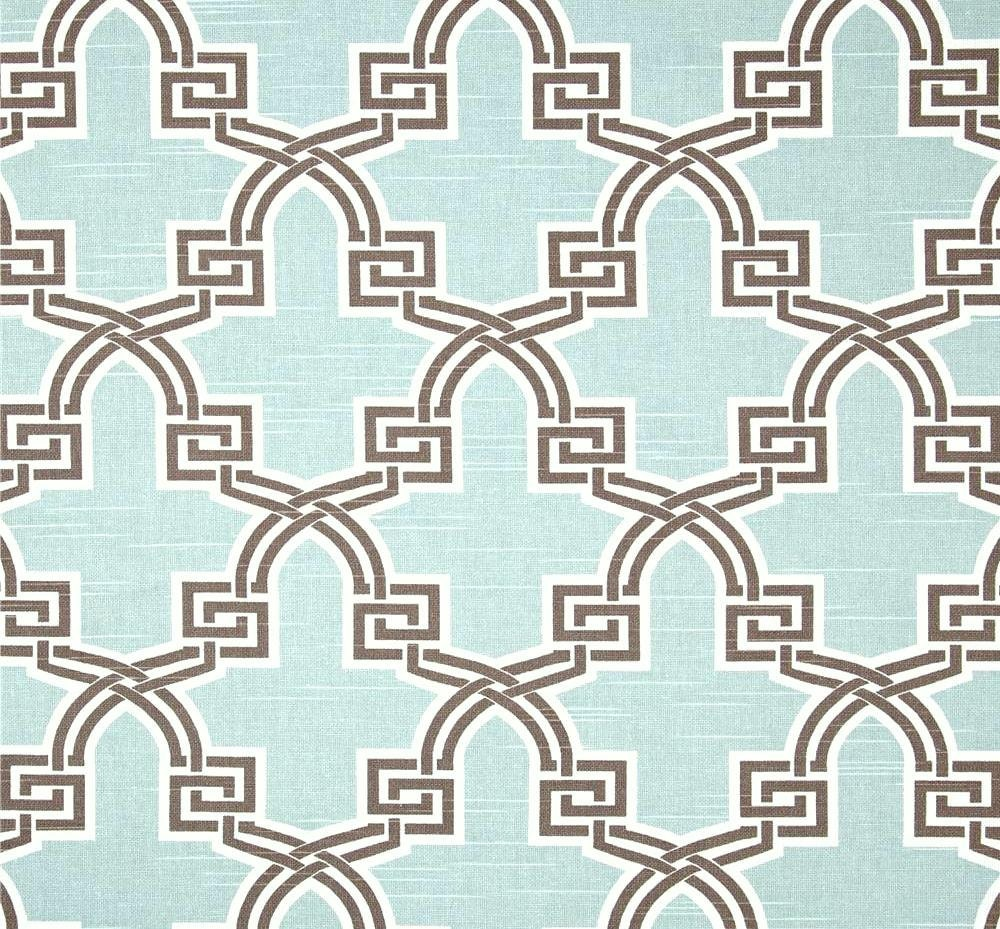 designer aqua home decor fabric by the yard by cottoncircle