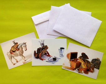 Fairy tale Frog  postcards