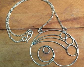 Sterling Silver Pendant Necklace Love Cloud