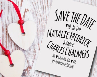 Custom Save the Date Stamp Style No. 20W