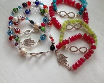 Beads bracelets diferents color