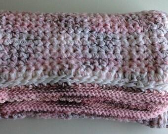 SAXIFRAGE/white, pink & brown