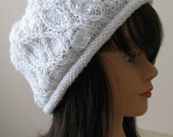 Knitting Pattern Using Cotton Yarn : Instant Download Knit Hat Chemo Hat Knitting pattern ...