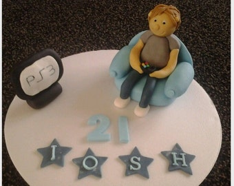 edible boys xbox, ps3, ps4 cake topper
