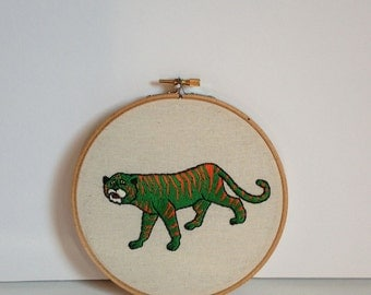 Cringer - 6 Inch Hand Embroidered Hoop Wall Art