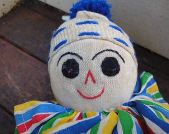 1950's Handmade Stuffed Sock Clown