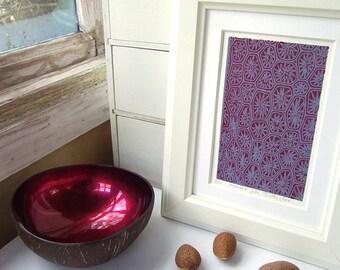 Pretty Purple screen print, art print, small, abstract, modern art