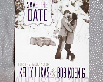 Beautiful Bliss Save the Date Postcard