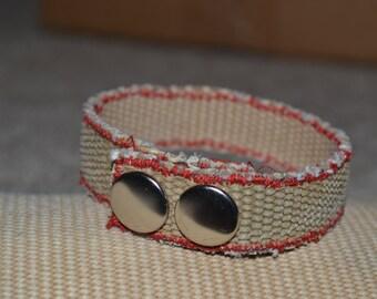 Fire hose bracelet