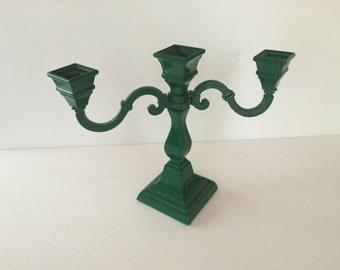 SALE! - Vintage 3 Arm Green Candelabra