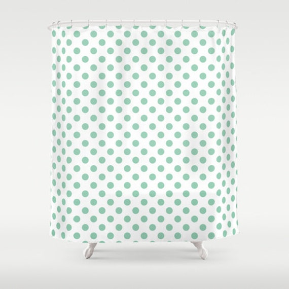 45 colors polka dot shower curtain seafoam mint green shower