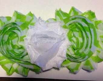 Lime Green Chevron Shabby Headband