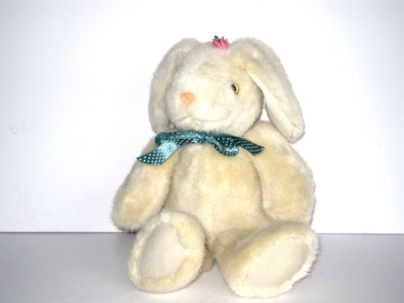 Vintage Plush Bunny M G Pacific Cream Teal By Penelopesportal