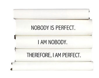 Popular items for nobody is perfect on etsy - Nobody is perfect mobel ...