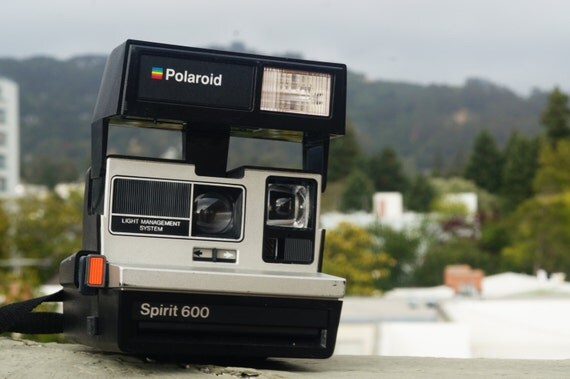 polaroid spirit 600 instant film camera by vintagecameratime. Black Bedroom Furniture Sets. Home Design Ideas