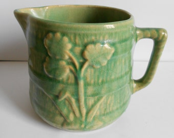 Vintage Green Milk Pitcher