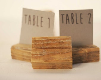 35 piece Rustic place card holders, Wedding card holders, name card holders, Rustic wedding table number holder, wooden card holders