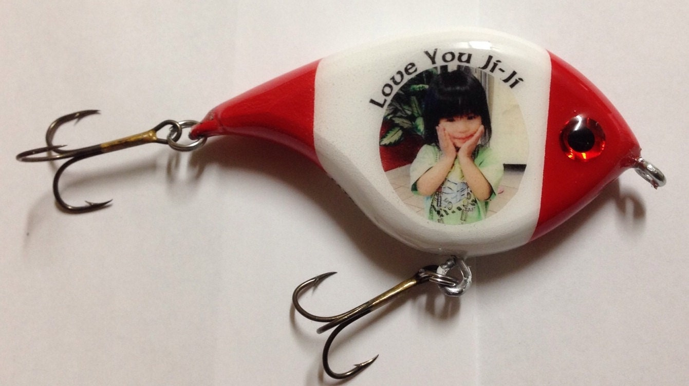Personalized 5 custom fishing lure perfect gift for for Personalized fishing lures