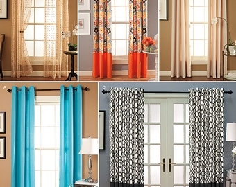 Simplicity Sewing Pattern 1437 Window Treatments in 2 Lengths with Grommet Tops