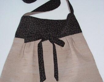 Tan and Brown Tote Purse Handbag