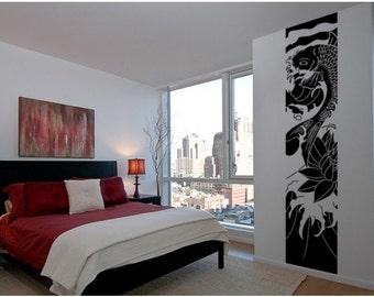 Koi wall decal, sticker, mural, vinyl wall art